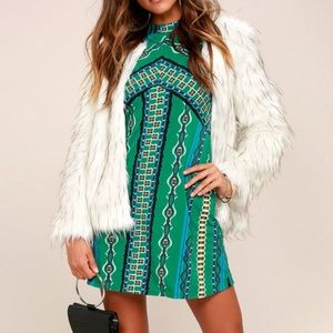 Free People Green Stella Mini Dress Small
